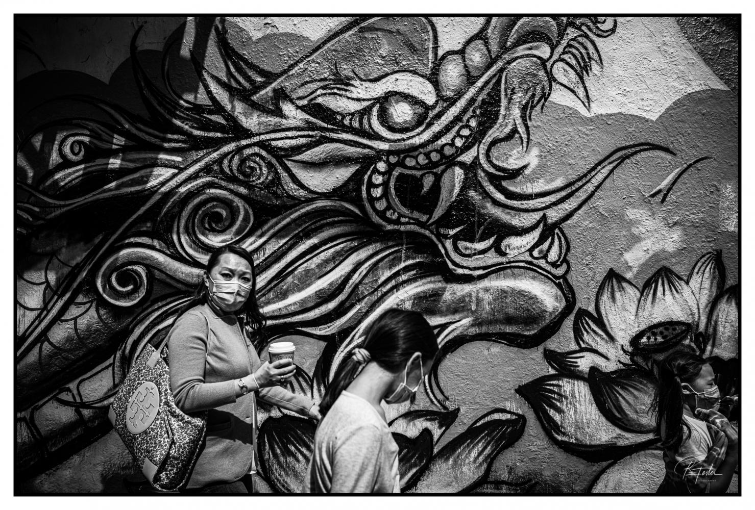 Glaring under the Dragon, ©2021 Reginald Foster