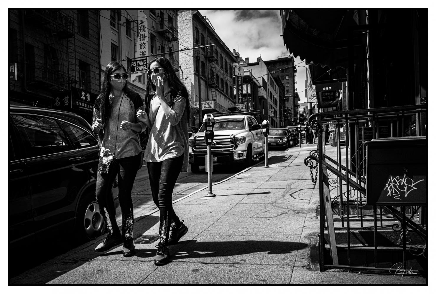 Twins Chatting, ©2021 Reginald Foster