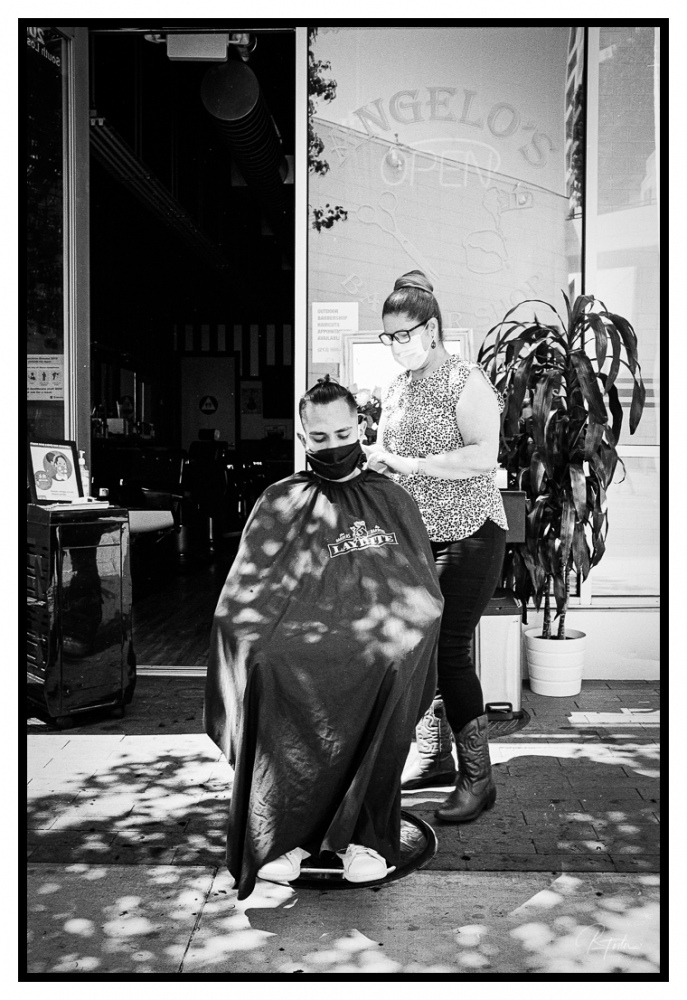 Great Outdoor Haircut, ©2021 Reginald Foster